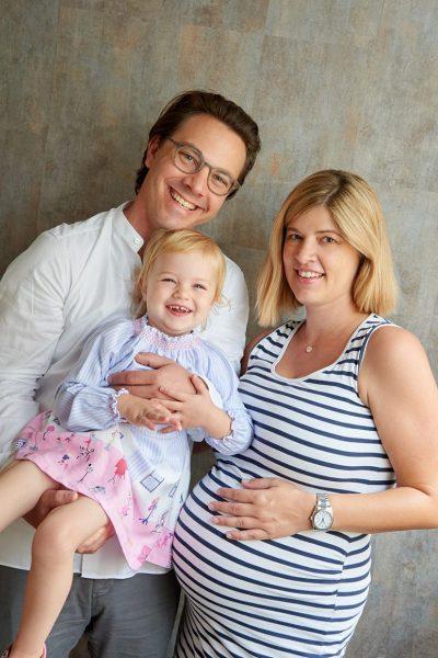 Schwangerschaftsfotos mit Familie