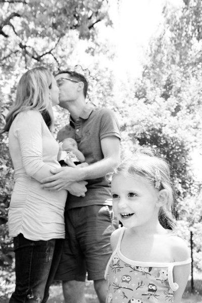 Familienfotos München schwarzweiss