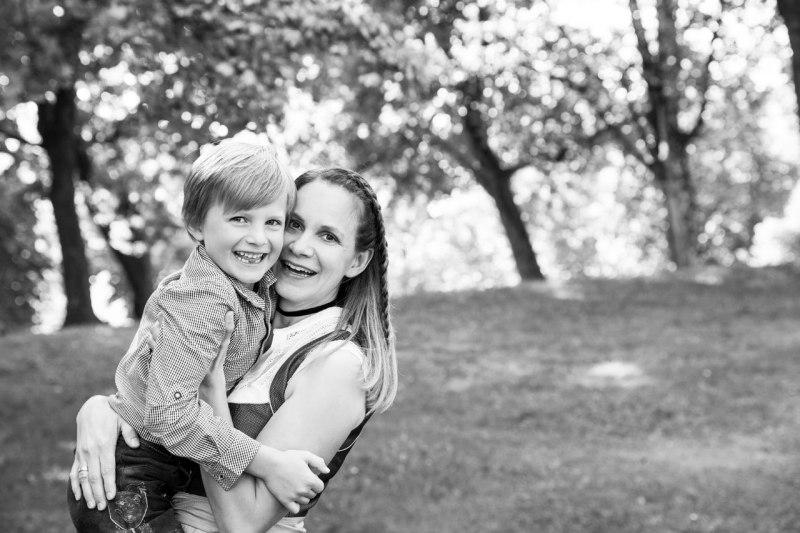 Familienfoto München Mutter mit Kind