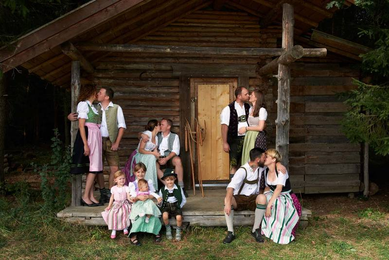 Familienfotos München Gruppenaufnahme Großfamilie