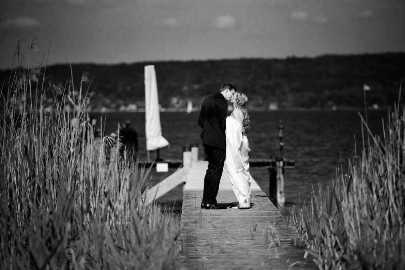 Ammersee Hochzeitsfotos schwarzweiss
