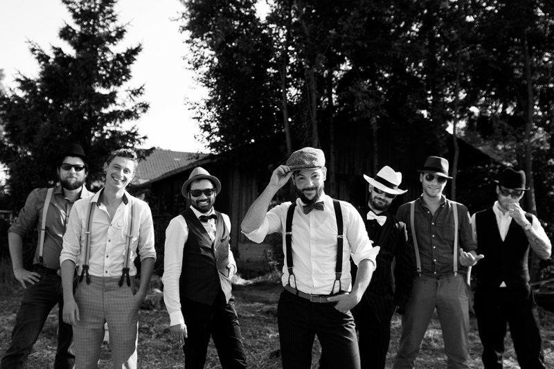Hochzeitsfotos Gruppenaufnahme Männer