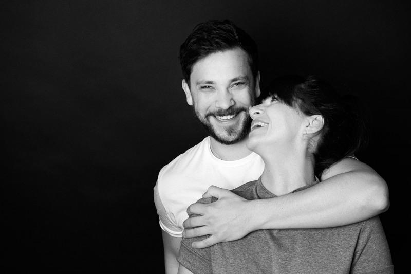 Paarportraits Muenchen schwarzweiss