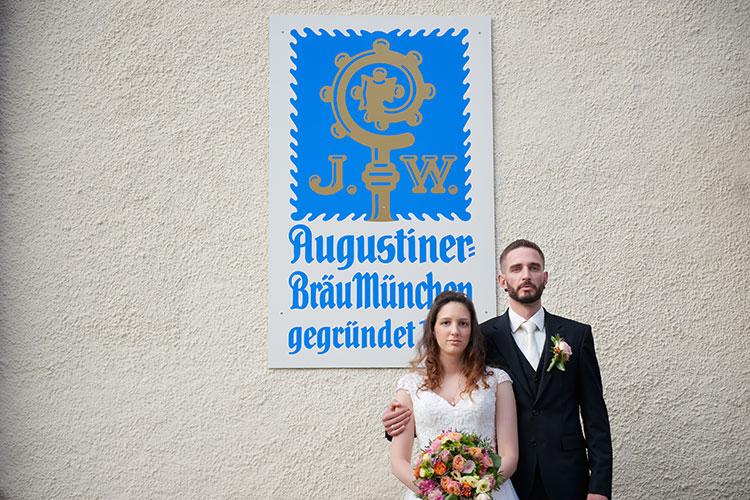 Hochzeitsfotograf München Brautpaarportrait
