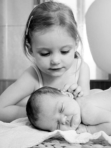 Bayfoto mit Schwester