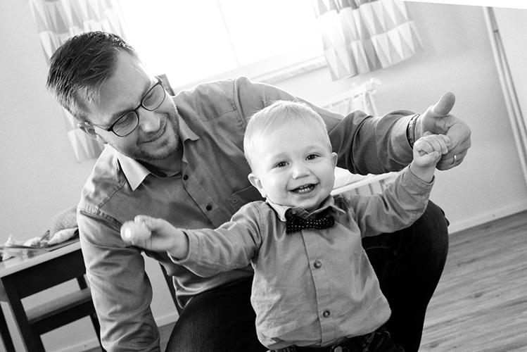 Portraitfoto Vater mit Kind