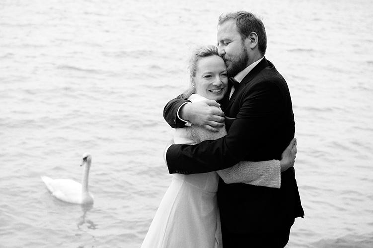Hochzeitsfoto Brautpaar am Ammersee