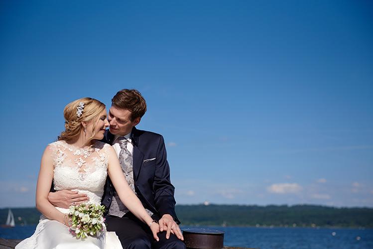 hochzeitsfotograf ammersee Brautpaarportrait