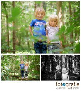 Kinderfotos München im Wald