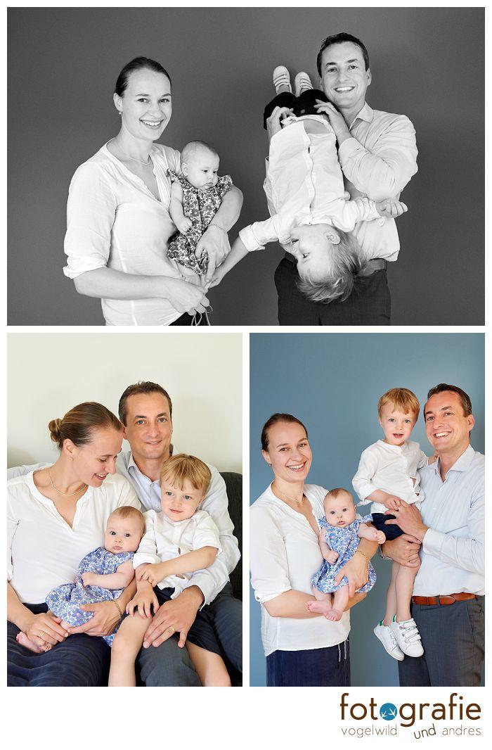 Familienfotos zu viert