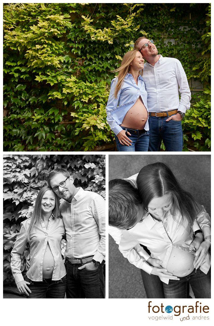 Babybauchfotografie mit Partner in München